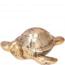 Ceramic turtle Marina, L11cm, gold